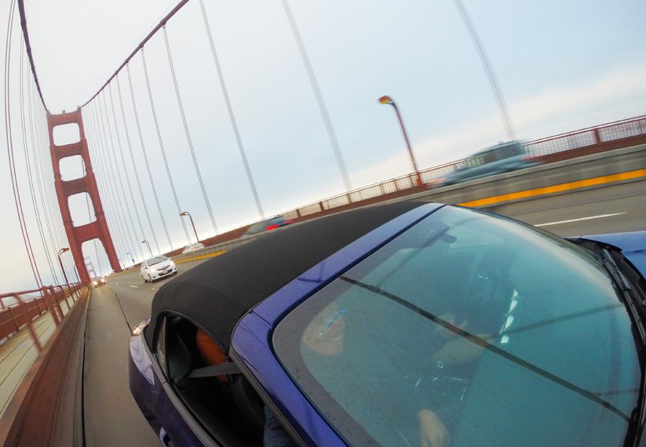 Driving through the bridge