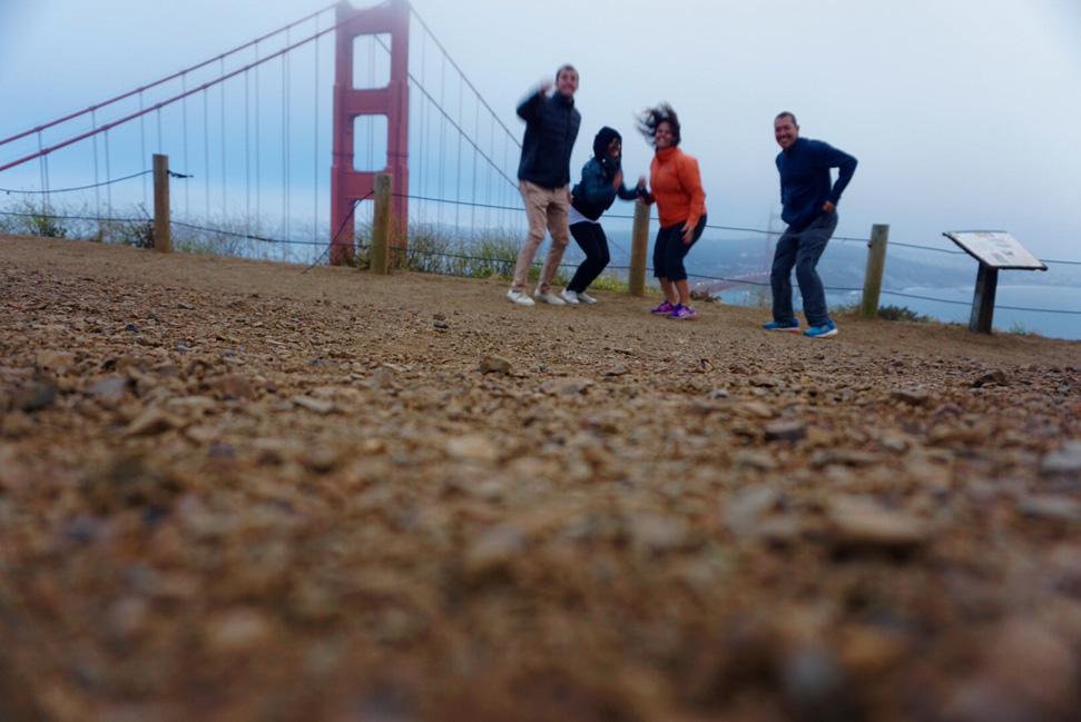 """selfie"" fun + mishaps- At golden gate bridge"