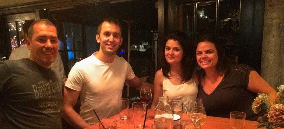Enjoying drinks at The Lark in Santa Barbara's Funk Zone